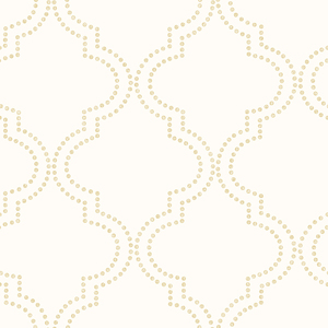 Tetra Cream Quatrefoil Wallpaper 2625-21800