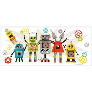 Waverly Robots Wall Graphic RMK3041TB