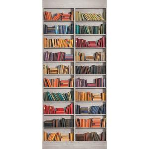 Two Panel Book Shelf Mural AM8845M