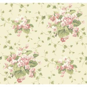 Waverly Cottage Sweet Violets Wallpaper ER8100